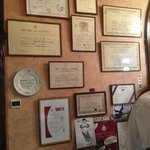 some of the many awards for this restaurant