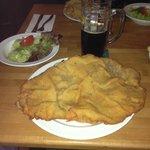 Delicious food – oversize Schnitzel