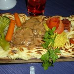 Steak with diane sauce