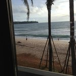 view from the room. right on the beach