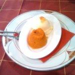 Postre de Zanahorias caliente y helado de Vainilla