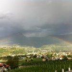 arcobaleno ripreso dall'hotel unterpazeider