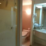 View of the bathroom (bathtub is to the right of the sink)