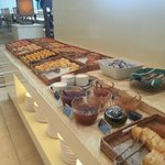 Some of the offerings at the hotel's breakfast buffet