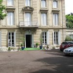 Hotel frontage with secure parking