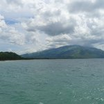 View from the ferry when arriving to Abrade Ilog