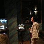 Singing the night away at the Karaoke room