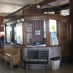 Old ticket counter inside