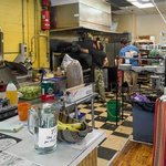 The hectic kitchen at the Saxapahaw General Store