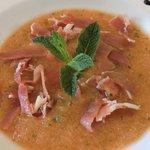 vooraf meloen carpaccio met italiaanse ham