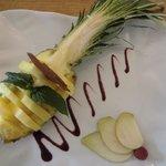 verse ananas als dessert