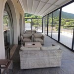 Screened-in patio for relaxing