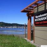 Restaurant sign at Neah Bay fishing boat docks
