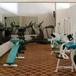 Exercise room at the Grand Hotel