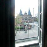 la Holstentor vista dalla camera del Ringhotel Lensen