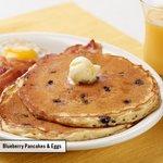 Blueberry Pancakes & Eggs