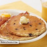 Blueberry Pancakes & Eggs