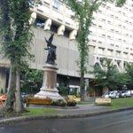 statue near the hotel