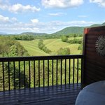 Beautiful view of the countryside and Smoky Mountains from the room's balcony