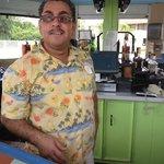 Imad at the pool bar