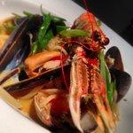 Seafood linguini special