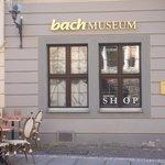 museo bach - ingresso con tavoli caffetteria