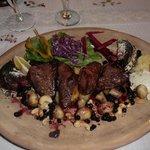 Grilled venison