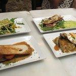 Beef, tuna and napolita la petitas
