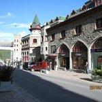 a fancy hotel in the street