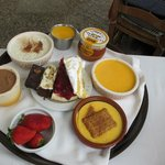 Selection of desserts to choose from