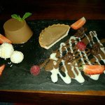 Chocolate platter pudding!
