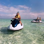 Come join us on the beautiful Jet Ski & Snorkel Tour past Cloudbreak to the Sandbar of the Maman