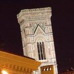 Il campanile visto dalla camera