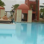 The pool and outdoor resturant