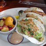 Fish Tacos w/ Fruit Salad