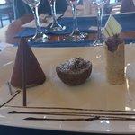 Three Chocolates (dessert of set menu)