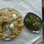 Boiled cod (bacalhau) with potatoes