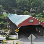 Covered bridge behind the store