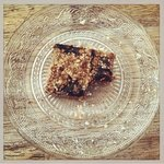 Homemade concord grape and peanut butter bars