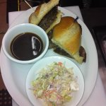 French dip with slaw