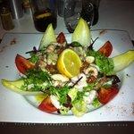 Salade de poulpe.