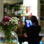 Flowers and bar