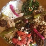 Combination mezze (cold) - worth eating with drinks.
