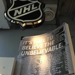 Inside door at NHL Store