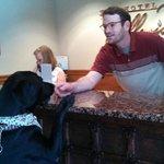 Aspen getting a treat