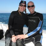 In between dives at Cozumel with Blue Magic Scuba