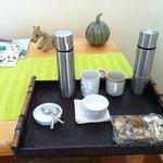 Morning coffee before breakfast