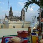 View of Expiatorio and Proulex from La Perla Hotel Boutique