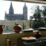 View of Expiatorio from Rooftop Terrace