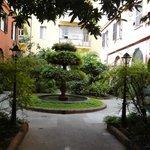Building courtyard